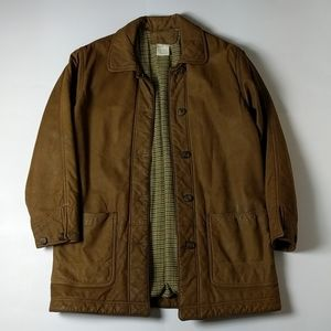 LL BEAN WOMEN'S Brown Leather Jacket